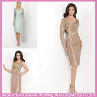 HM5003 Brand new champagne mother of the bride lace dresses with high quality