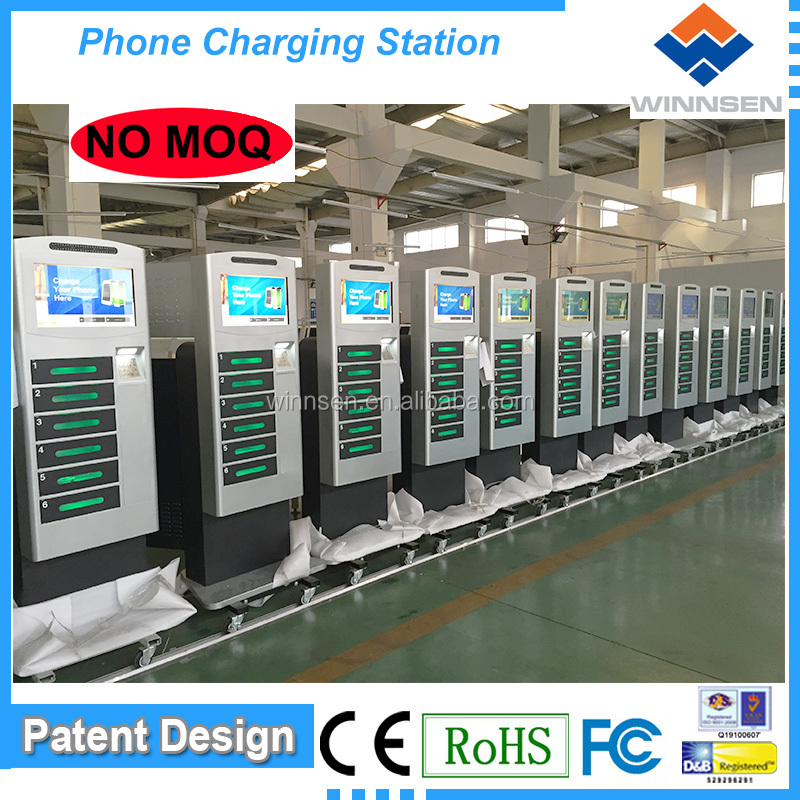 Factory Price Free Standing Coin Operated Cell Phone Charging Kiosk APC-06B
