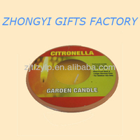 Outdoor Citronella Big Candles in ceramic pot
