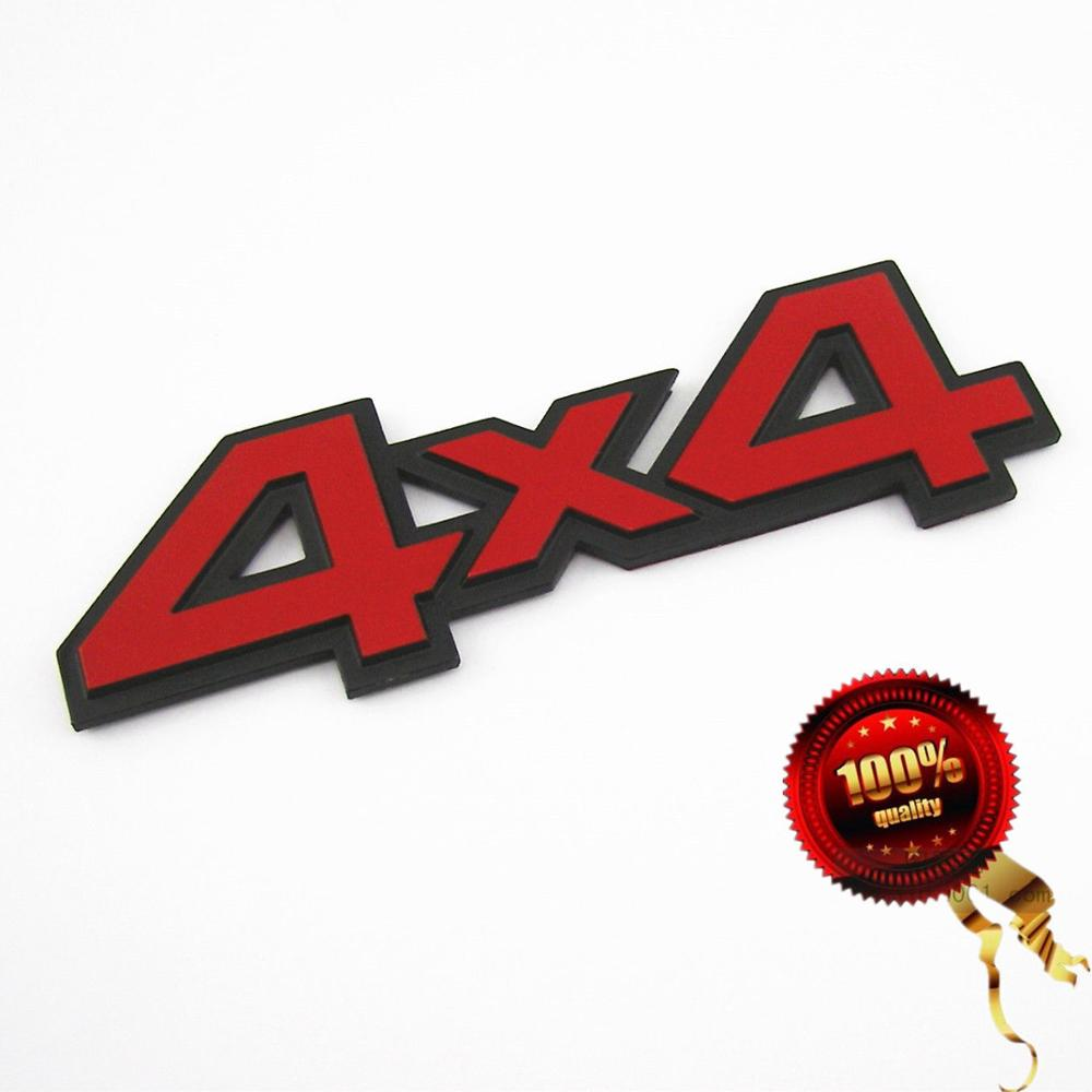 Red 44 3D Emblem Metal Sticker Badge For Truck SUV Pickup Rear Tailgate Trunk