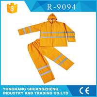0.32mm pvc reflectorized raincoat satin bomber jacket