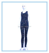 Camouflage pattern sexy top vest and pant sport yoga set