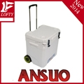 LLDPE plastic cooler box with wheels and trolley (ANSUO-65L)