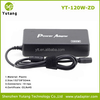 AC Laptop 120W Adapter Output 15-24V with 10 Different Tips