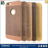 3 in 1 slicoo wood cell phone case for iphone 6 with logo hole