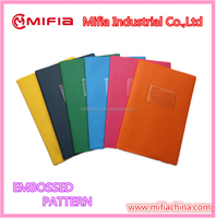 wholesale plastic PVC embossed leather school a4 book covers with pocket holder
