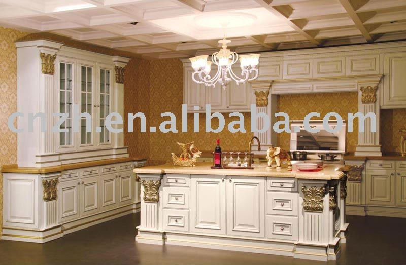 European-style wood kitchen cabinet