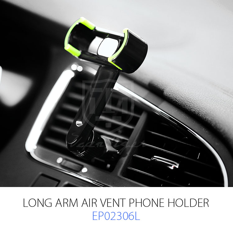 High-quality Long Arm Design Air Vent Car Mobile Phone Holder with Clip