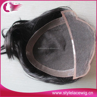 High quality indian remy human hair toupee / wig for men