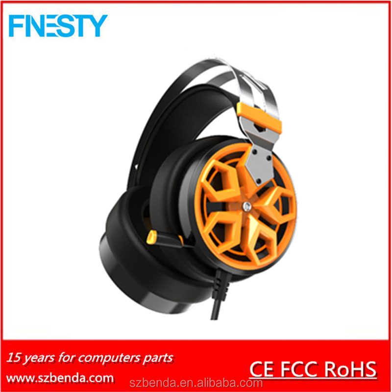 2017 Hot 50Mm Driver Super Bass Stereo Gaming led Oem Headphone