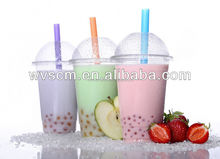 Custom Take Away Clear Printing Cold Drinking Plastic Cup and Dome Lids