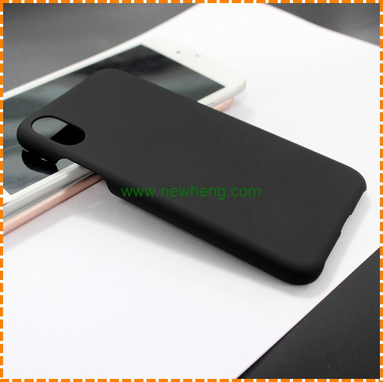 For iPhone X custom printing blank matte black pc plastic mobile phone case