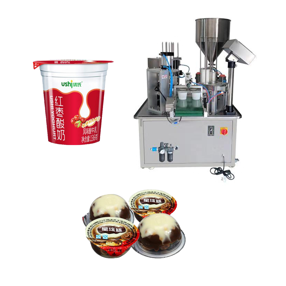rotary type chocolate cup filling sealing machine, aluminum film sealing machine plastic cup filling machine