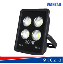 200W IP66/IP65 all in one integrated COB led black floodlight with reflector