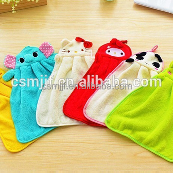 Cartoon Hang Coral Fleece Cartoon Hand Towel Wholesales