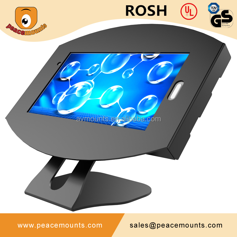 Chinese supplier of 45 degrees tiling <strong>L</strong> shaped free standing on desk Customize 360 degrees Swivel Tablet desk stand