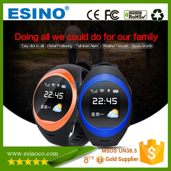 Personal GPS Tracking System GPS Kids Tracker Watch Smart Watch Elderly With Fall Detection Alarm