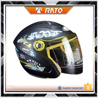 China popular black classical half motorcycle helmet
