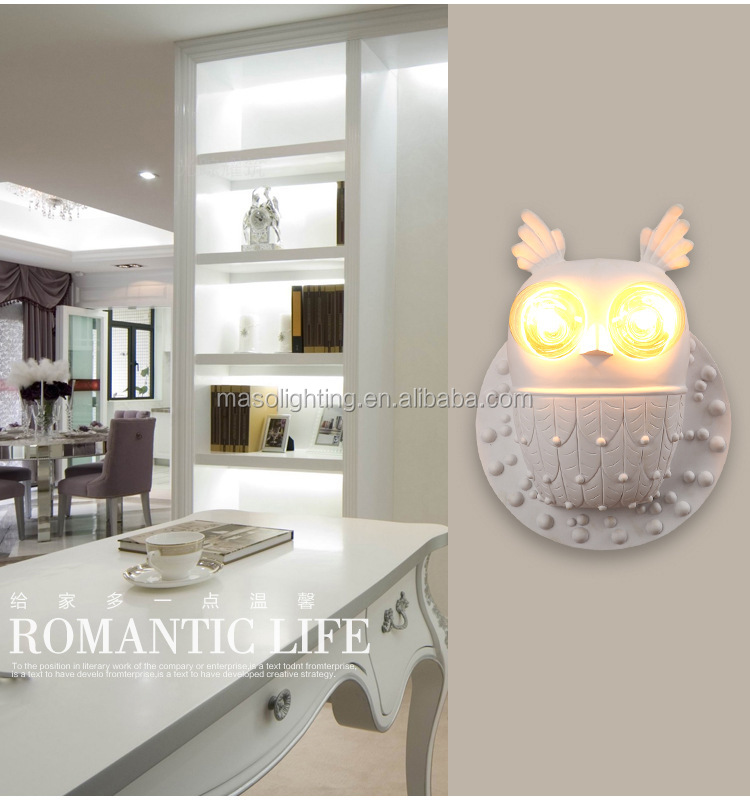 Novelty Children Room Wall Lamp Owl Bird Animal wall light for Home club Resturant with E27 Edison energy saving home lighting