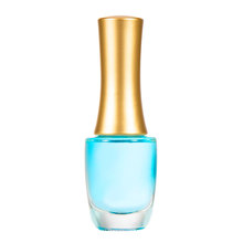 Wholesale Custom Made 12ml Clear Round Glass nail polish bottle With cap