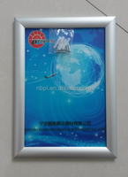 Aluminum high quality wall mounted snap frame curve frame A1 poster frame