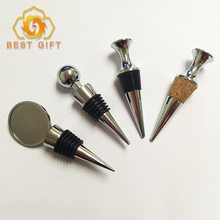 Top supplier wholesale metal craft custom different shape zinc alloy heart wine stopper