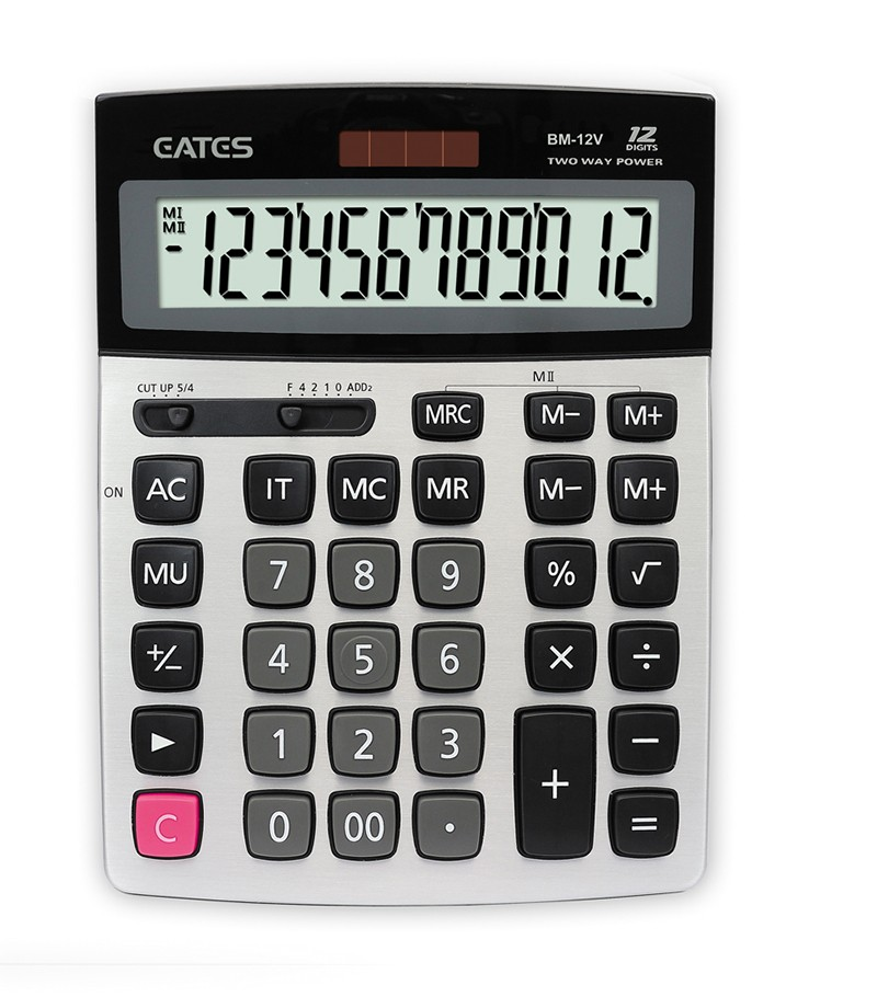 Dual Power 12 digits Multifunction Desktop Calculator Factory Direct Sale