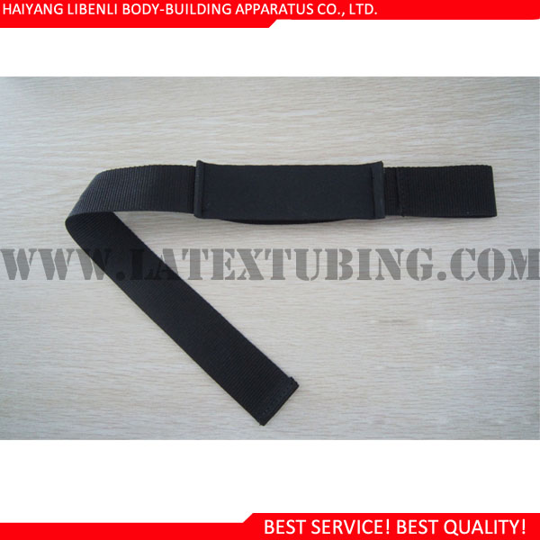 Cotton <strong>Weight</strong> Lifting Straps with Neoprene Padding on Wrist with Customized Logo