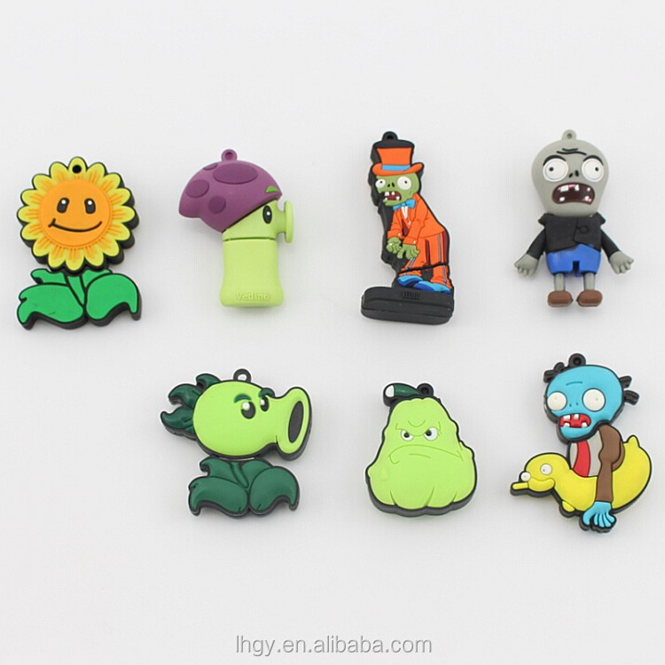 10pcs/lot Freeshipping+Dropshipping New cartoon Plant VS Zombie usb 2.0 memory flash stick pen drive 4gb-8gb-16gb-32gb