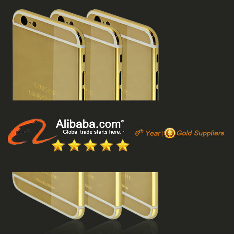 Luxury Gold Plating Housing for iPhone 6 6 plus,Shiny Platinum Housing for iPhone 6