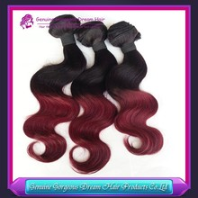 Hot sell!!! 2015 new fashion! virgin human hair two tone 1b/bug brazilian hair weft 8-26inch in stock