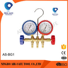 AS-BG1 Aluminum valve manifold gauge