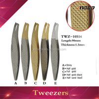 TW1004 hot sale fashion lade leaf shape gold-plated stainless stee tweezers