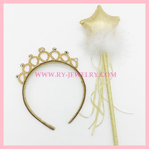 Princess Crown headband with Star wand set