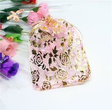 Wholesale different size high quality custom best price organza bags