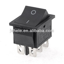 16A/250V 20A/125V AC Double Pole Single Throw DPDT O/O Rocker Switch