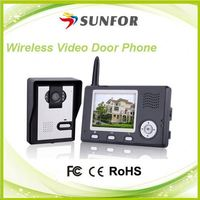 Alibaba hot sales 2.4GHz digital frequency hopping and encryption technology wireless peephole camera video door viewer