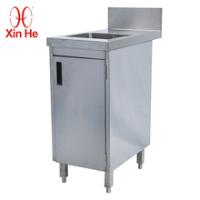 Modern Stainless Steel Kitchen Cabinet Metal Sink Table Base Cabinet