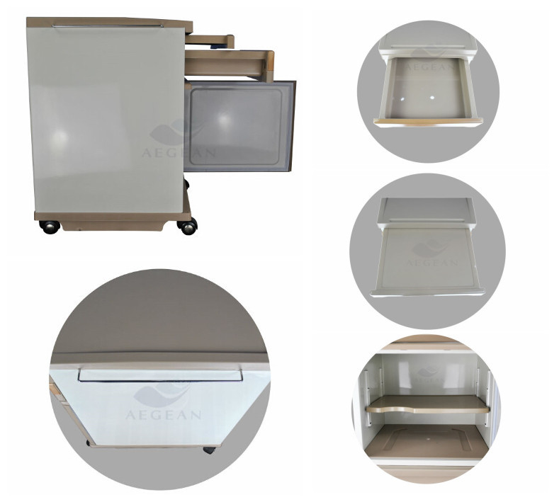 ABS plastic hospital bedside locker durable cheapest hospital medicine cabinet