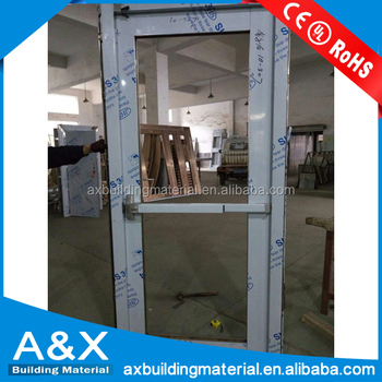 Stainless steel door with panic bar price/Best Design