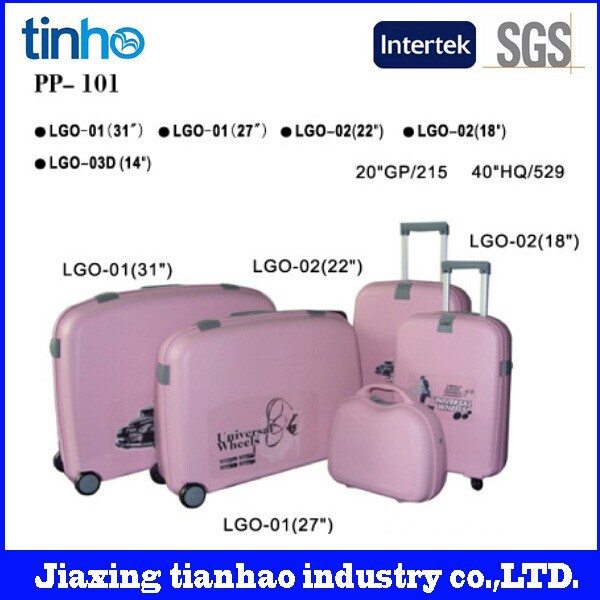Hot selling durable pp prince luggage