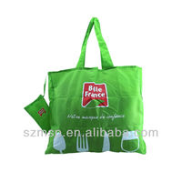 2 in 1 simple printing foldable promotion shopping bag,gift free tote bag