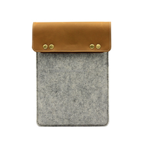 Accept Customer's design Wool Felt & Genuine Leather Sleeve Case For ipad mini case 2 for Samsung Note 8.0 8 inch