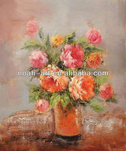 Beautiful impressional flower painting for decoration
