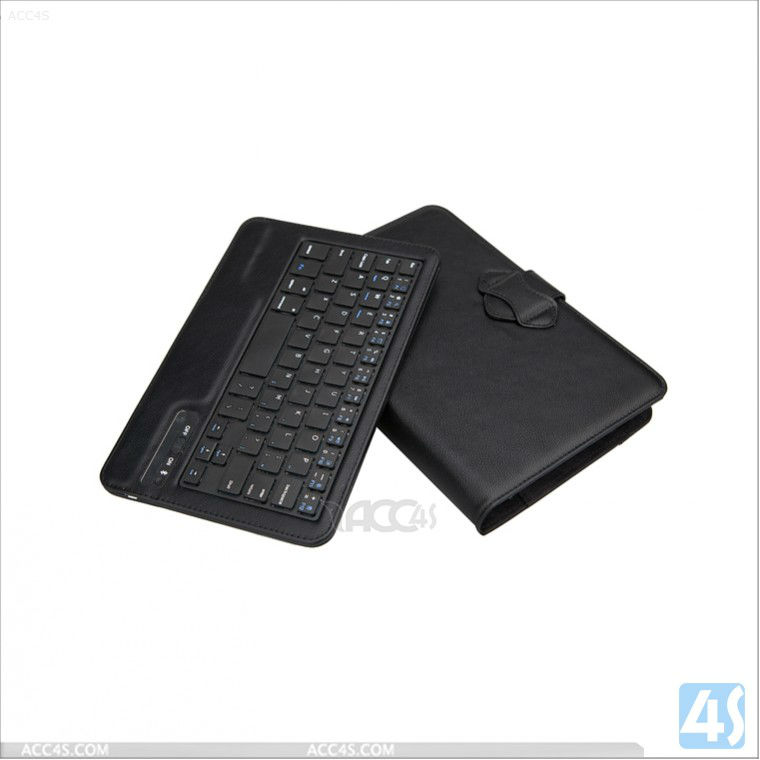 Universal tablet accessories bluetooth keyboard leather case for 7 inch table PC P-UNI7TABKBCASE003