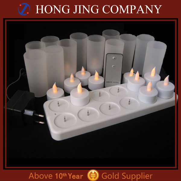 Promotional Rechargeable 6/8/12 pack Led Remote Control Candle for party, for home