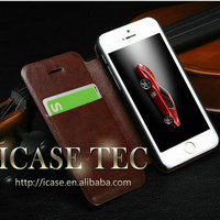 for iphon 5c case, credit card slots flip leather case for iphone 5c with stand function