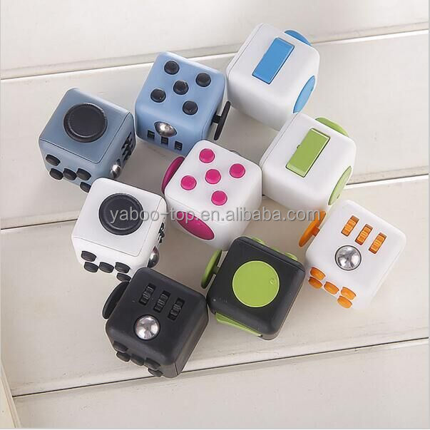 11 colors Original Fidget Cube a vinyl desk toy 2016 New Fidget Cube anti irritability toy magic cobe Funny Christmas gift stock