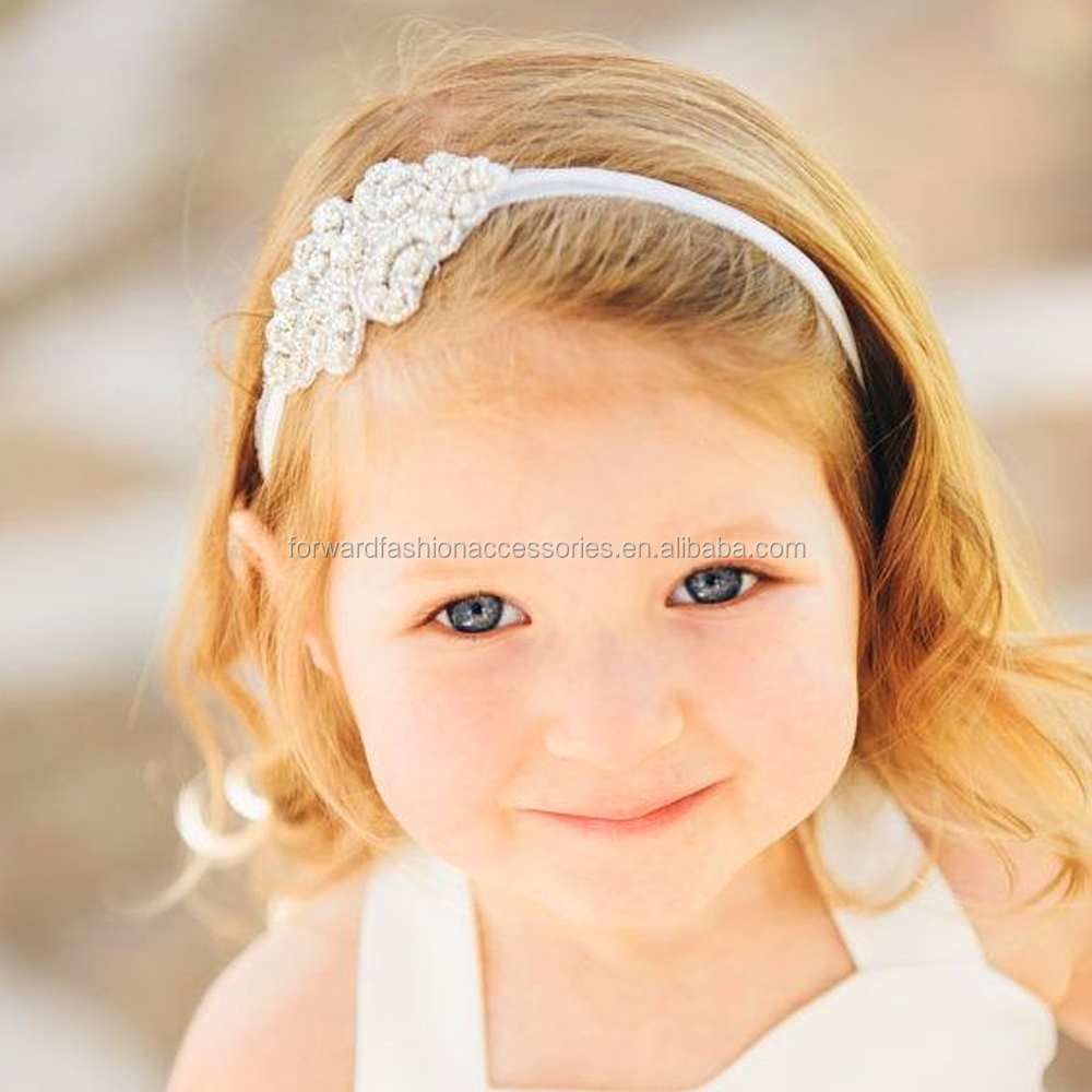 Princess Deluxe Girl Crystal Hand Sewing Sparkling Rhinestone Leaf Bridal <strong>Headbands</strong>