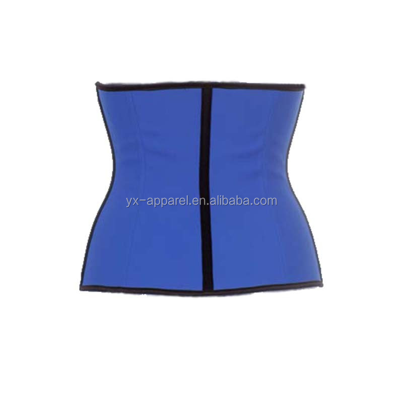 Hot selling 2017 amazon adjustable workout hourglass rubber waist trainer